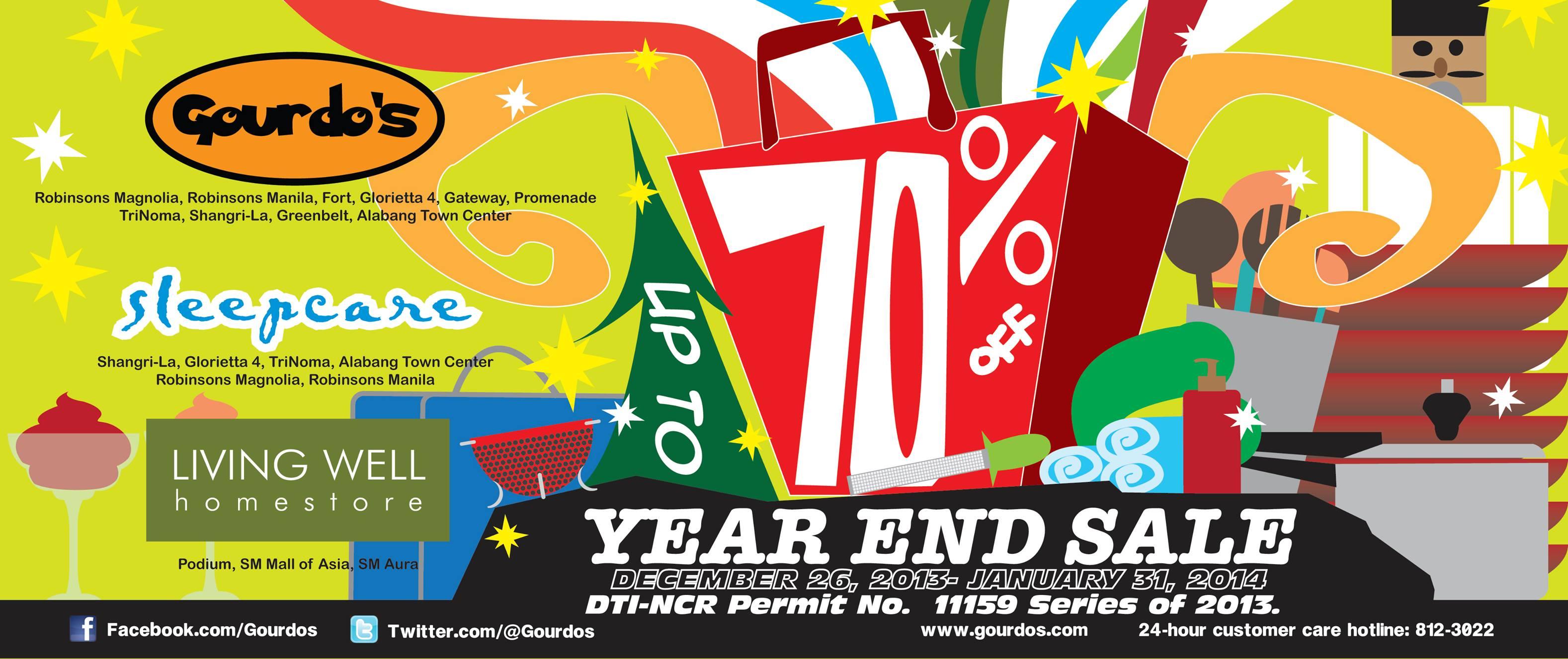 Gourdo's, Sleepcare, Living Well Year-End Sale January 2014