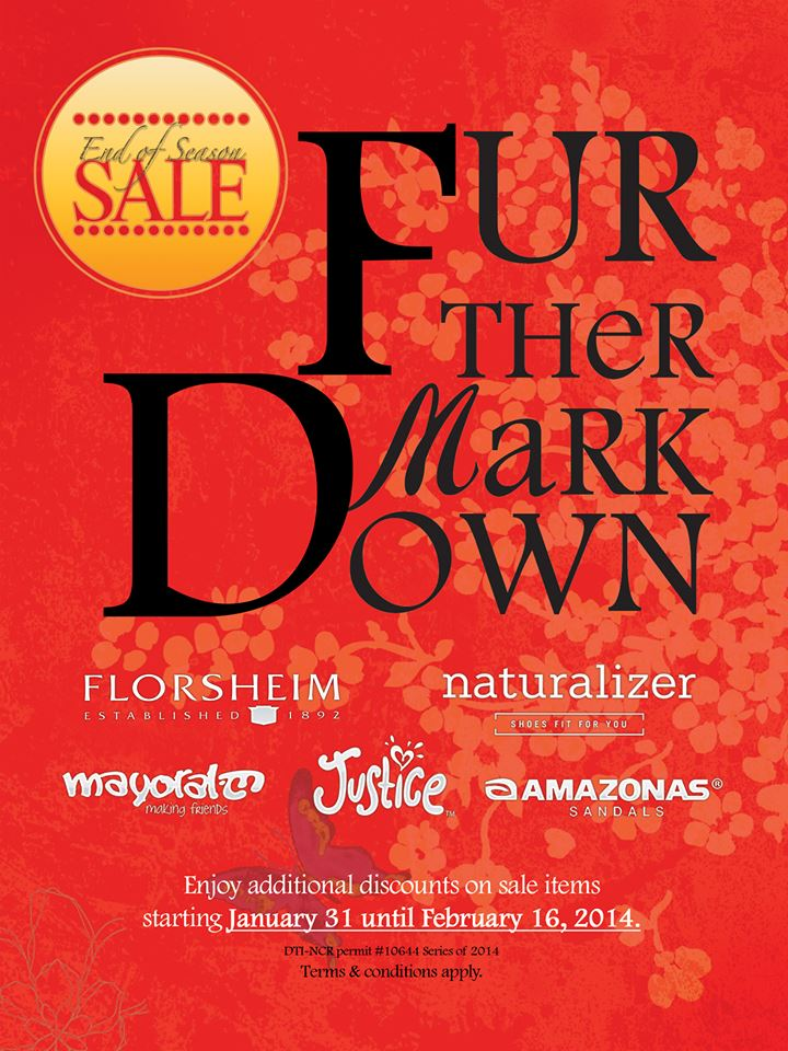 Naturalizer, Florsheim, Amazonas Further Markdowns January - February 2014