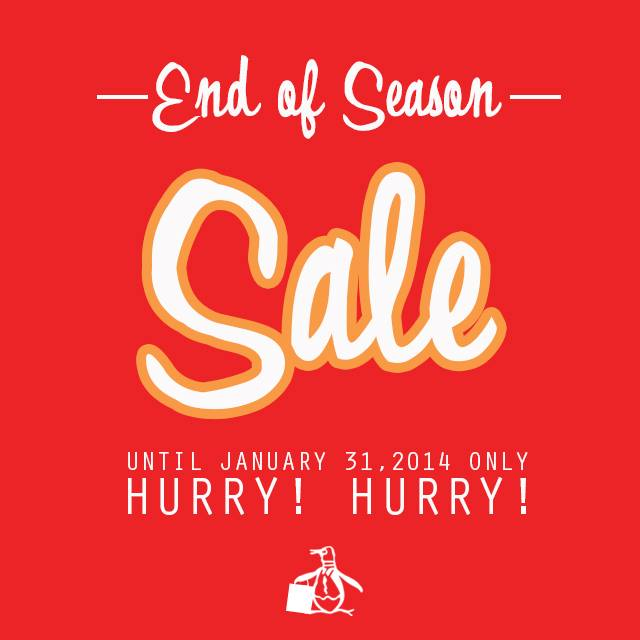 Original Penguin End of Season Sale January 2014
