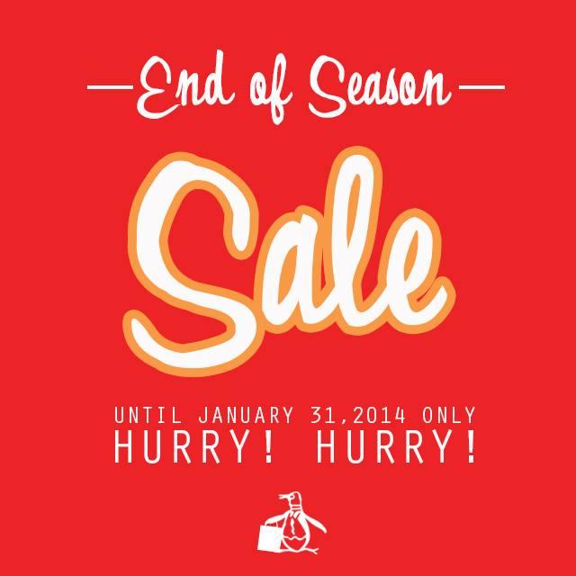 Original Penguin End of Season Sale January 2014