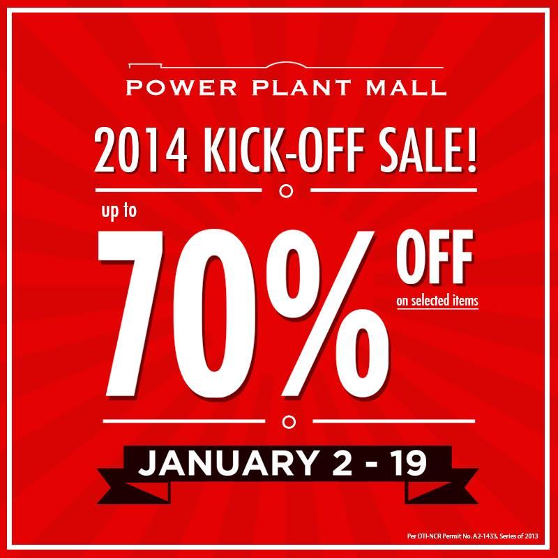 Power Plant Mall 2014 Kickoff Sale January 2014