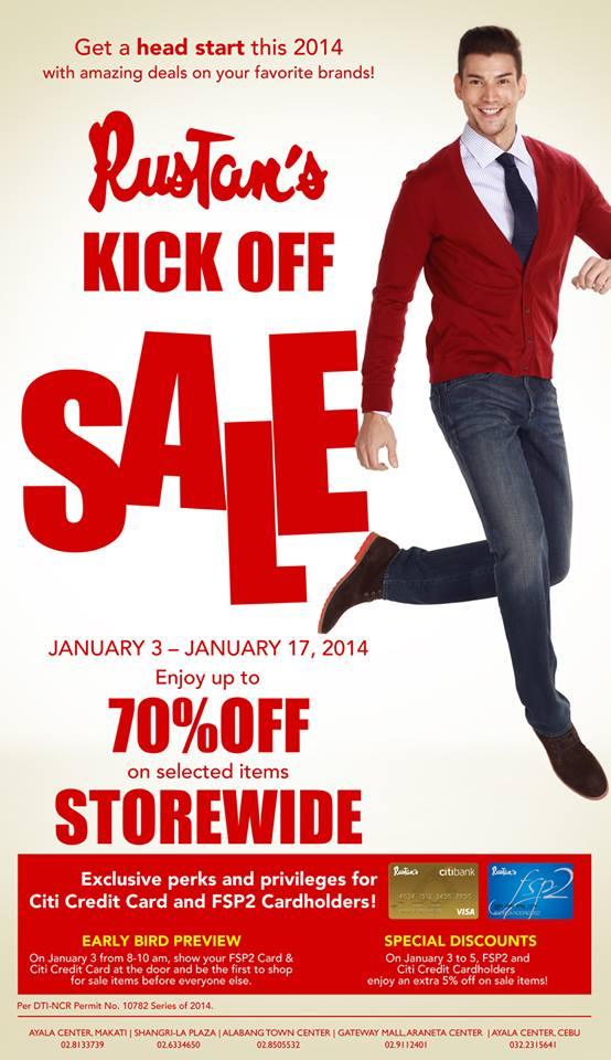 Rustan's Kick Off Sale January 2014