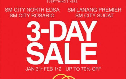 SM Supermalls 3-Day Sale January - February 2014