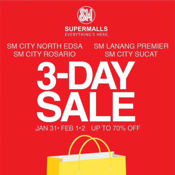 fbd63ae22017c7 SM Supermalls 3-Day Sale January - February 2014