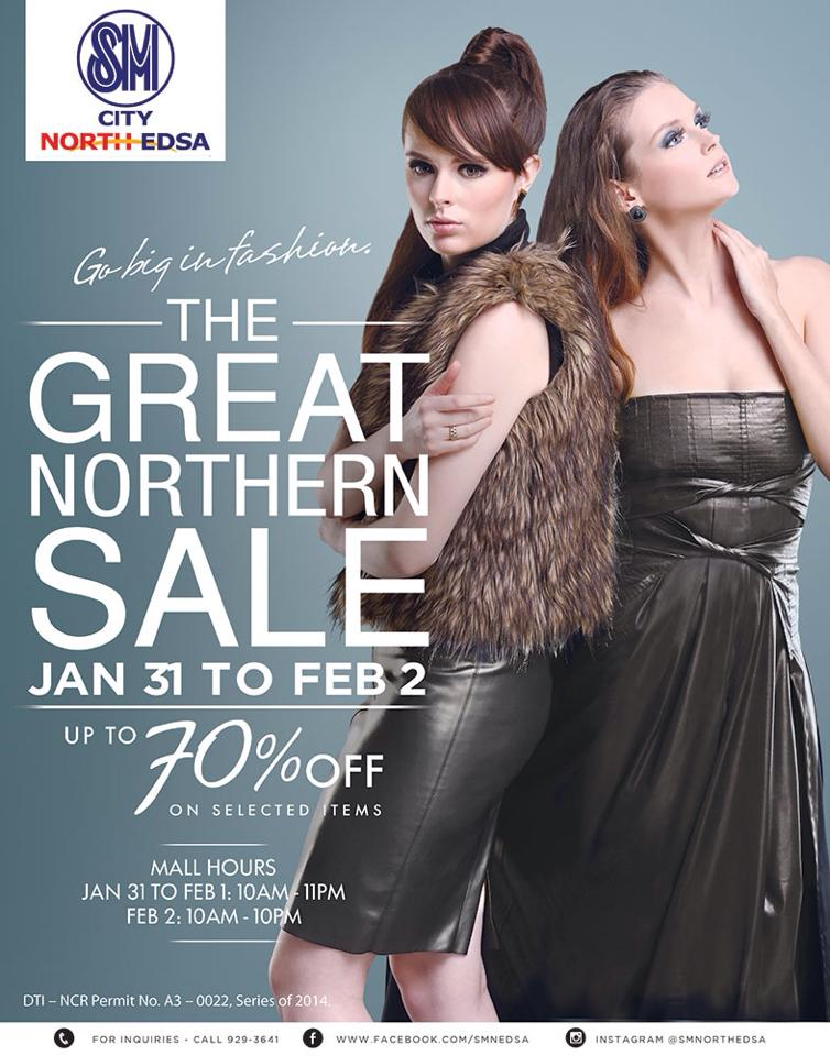 Sm City North Edsa The Great Northern Sale January - February 2014