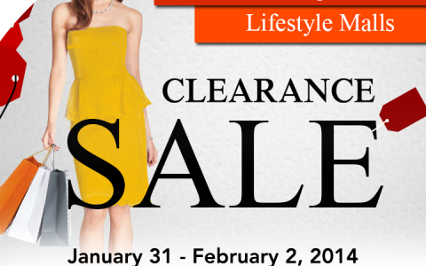 The Great Megaworld Lifestyle Malls Clearance Sale January - February 2014