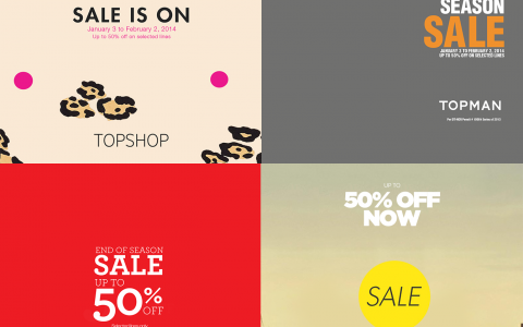 Topshop, Topman, Dorothy Perkins, Warehouse End of Season Sale January - February 2014