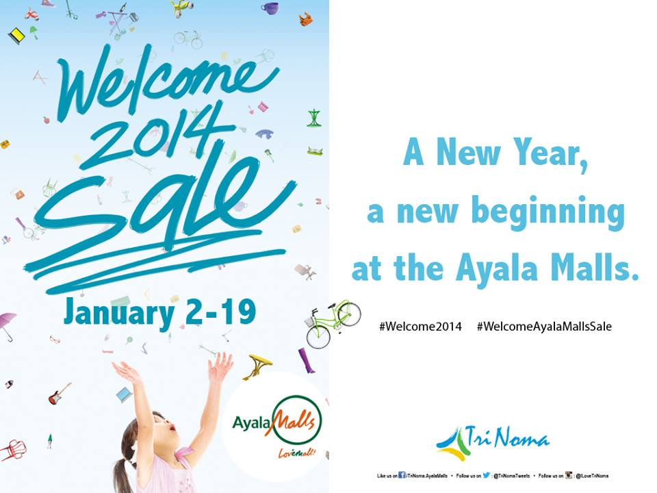 Trinoma Welcome 2014 Sale January 2014