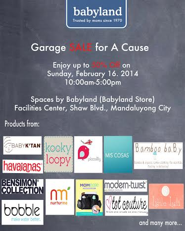 Babyland's Garage Sale For A Cause @ Spaces By Babyland February 2014