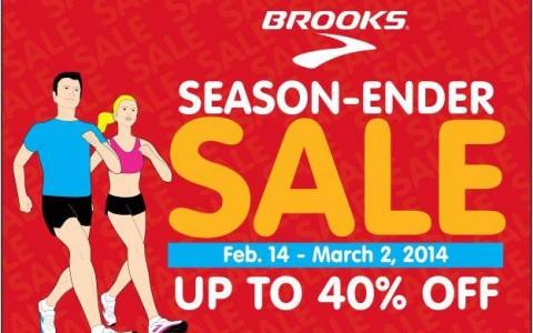 Brooks Season Ender Sale February - March 2014