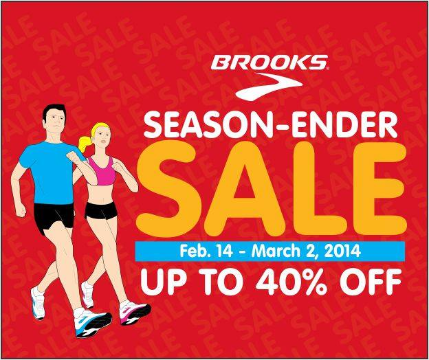 Brooks Season Ender Sale February - March 2014