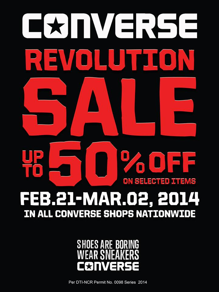 Converse Revolution Sale February - March 2014