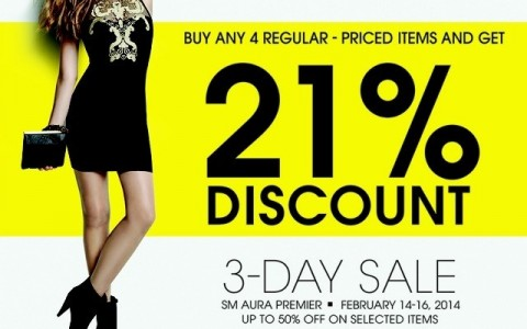 Forever 21 3-Day Sale February 2014