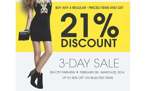 Forever 21 Sale @ SM City Fairview February - March 2014