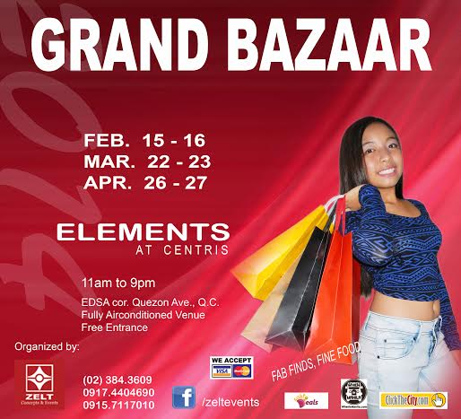 Grand Bazaar @ Elements, Eton Centris 2014 Bazaar Schedule