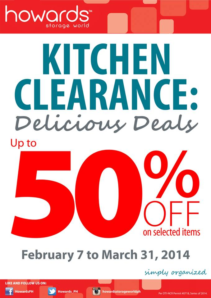 Howards Storage World Kitchen Clearance Sale February - March 2014