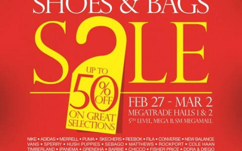 Mega Shoes & Bags Sale @ SM Megatrade Hall February - March 2014