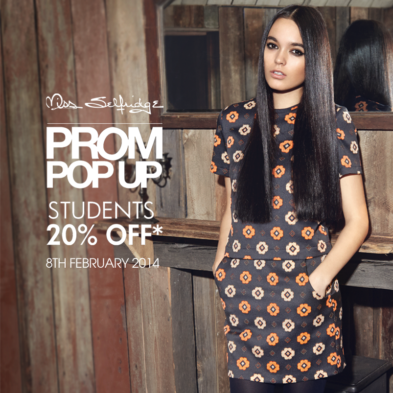 Miss Selfridge Prom Pop Up Sale February 2014