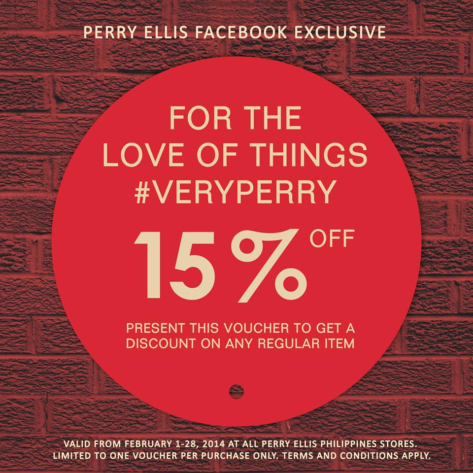 Perry Ellis Digital Discount Coupon February 2014