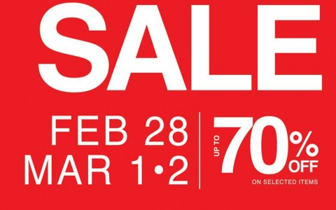 SM City Manila 3-Day Sale February - March 2014