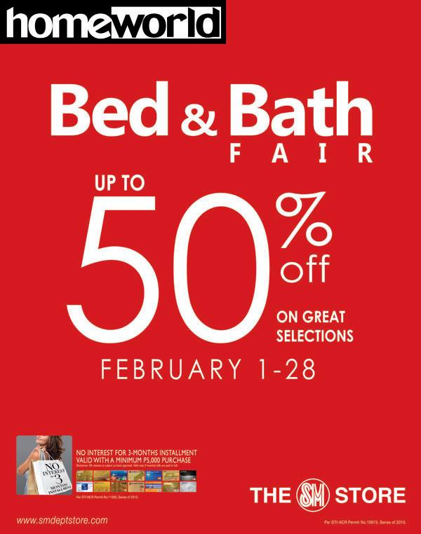 SM Homeworld Bed & Bath Fair February 2014