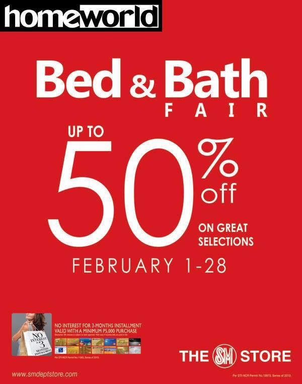 SM Homeworld Bed & Bath Fair February 2014