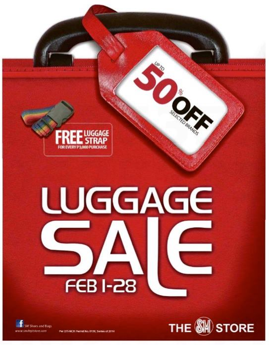 SM Luggage Sale 2014