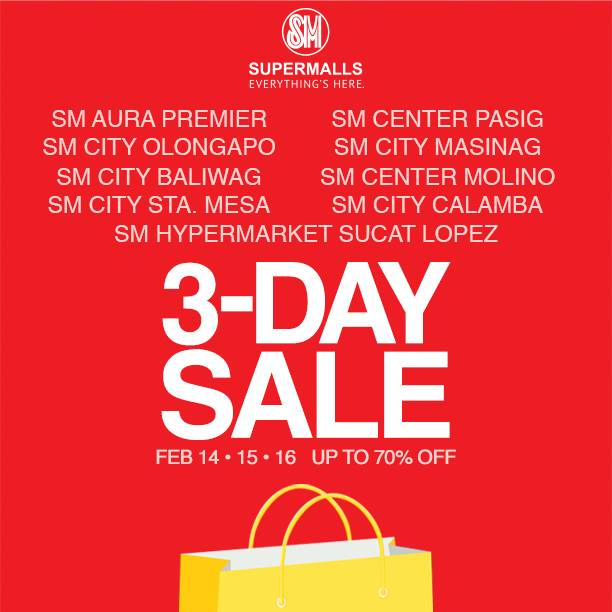SM Supermalls 3-Day Sale February 2014