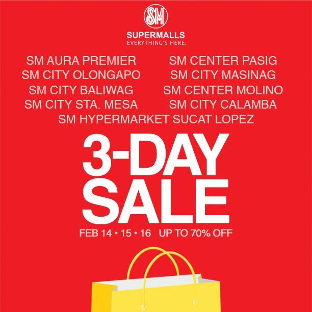 SM Supermalls 3-Day Sale February 2014