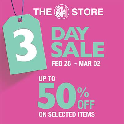 The SM Store 3-Day Sale February - March 2014