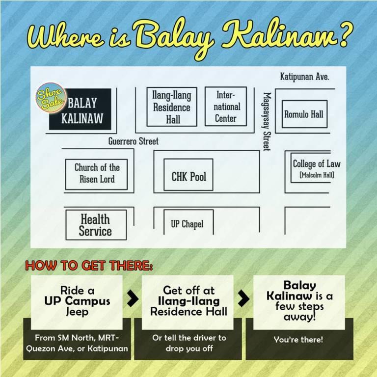 UP Balay Kalinaw Location Map