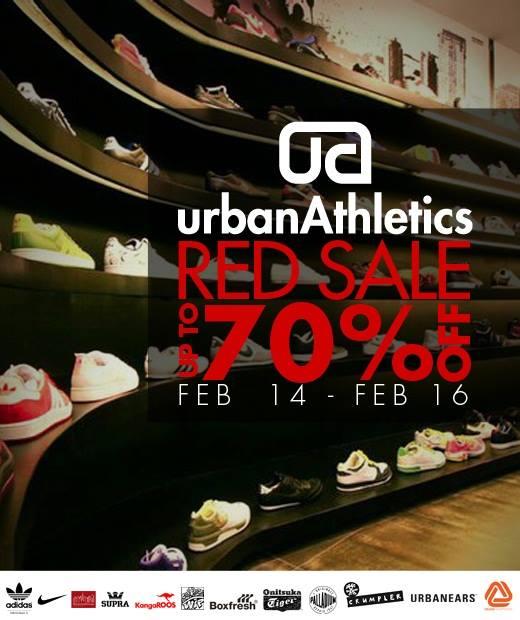 Urban Athletics Red Sale February 2014