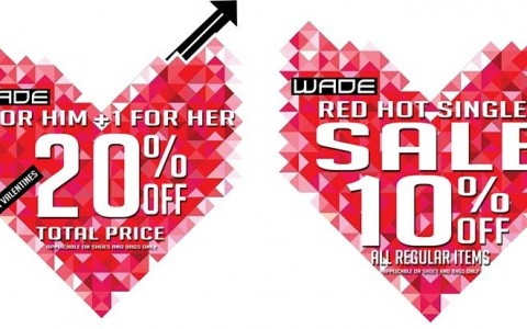 Wade Shoes Accessories Valentine's Day Promos February 2014