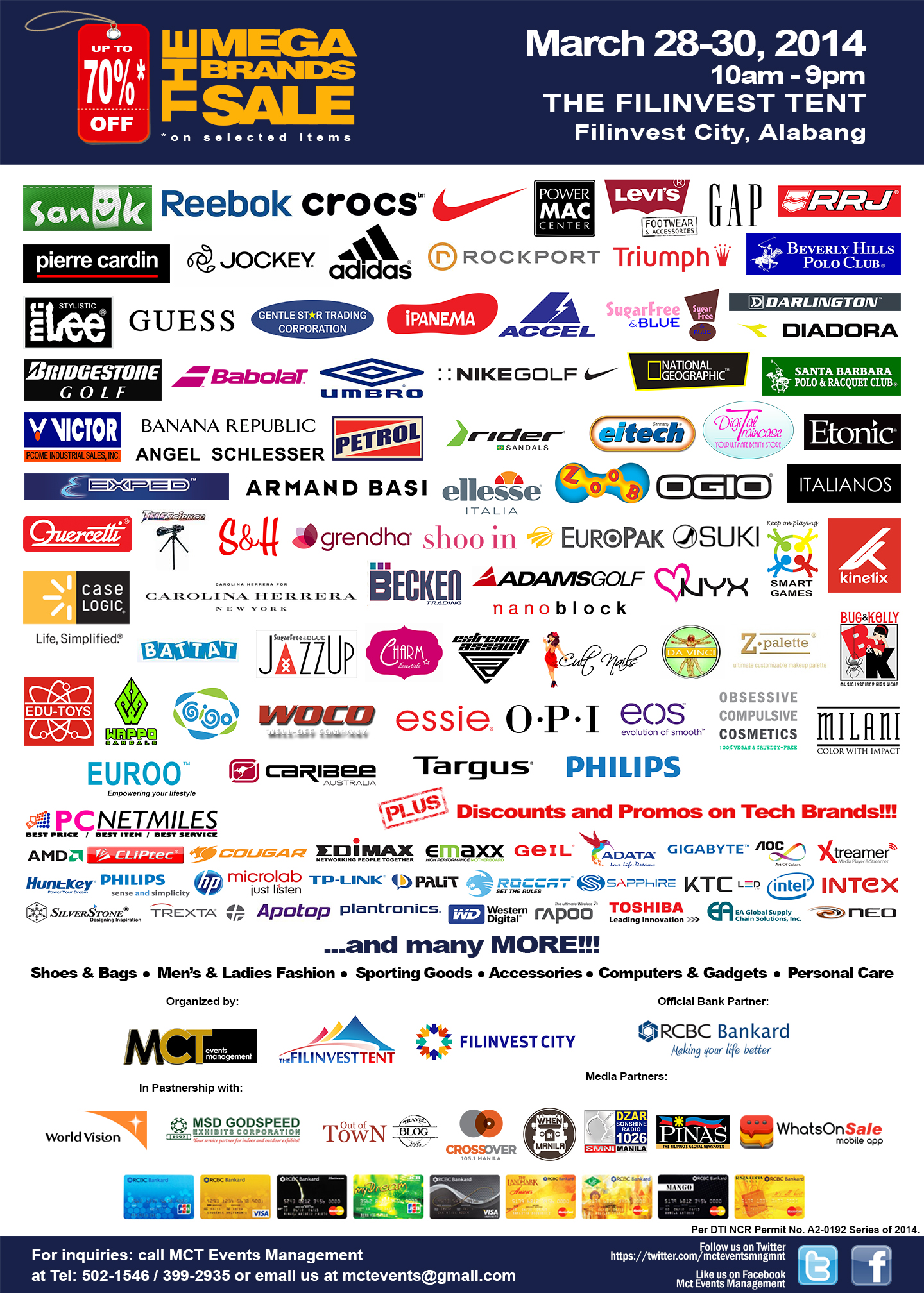 7th MegaBrands Sale @ Filinvest Tent March 2014