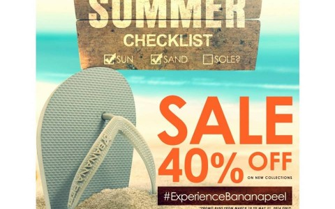 Banana Peel Summer Sale March - May 2014