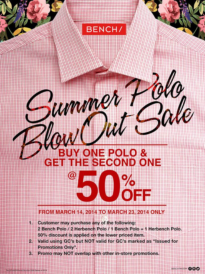 Bench Summer Polo Blow Out Sale March 2014