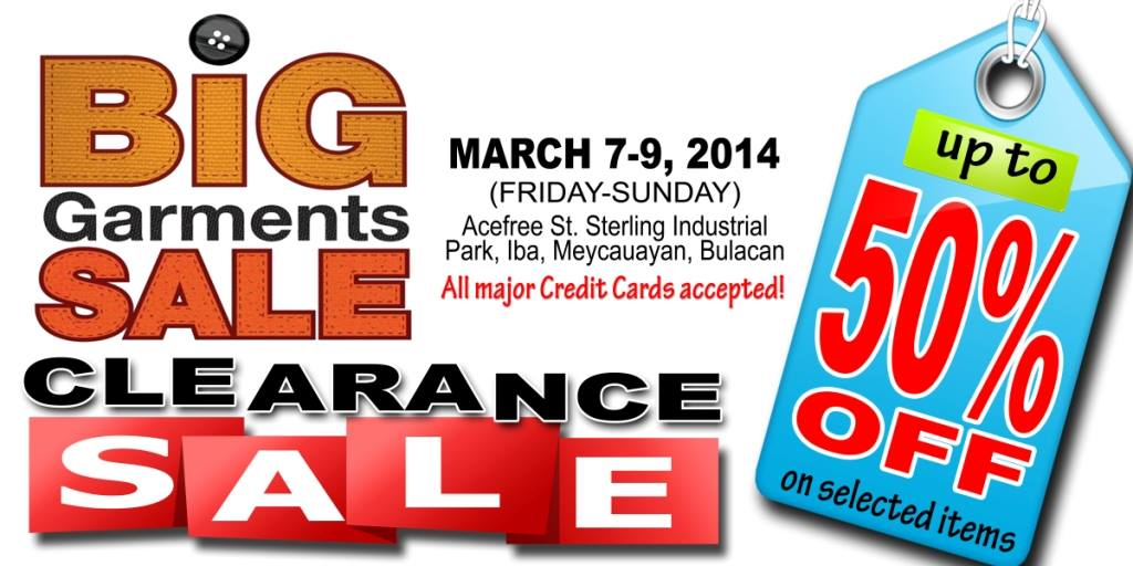 Big Garments Sale March 2014