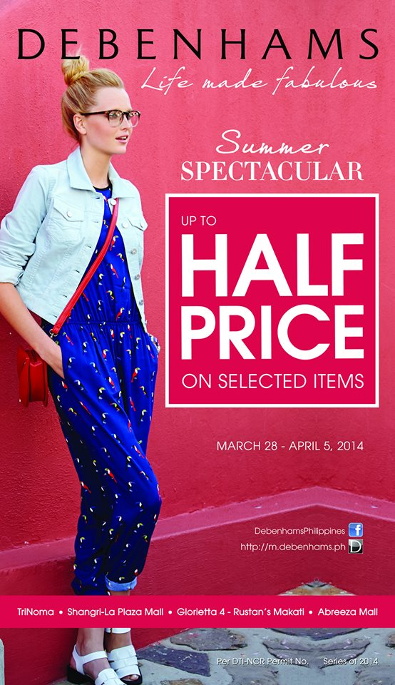 Debenhams Summer Spectacular Sale March - April 2014