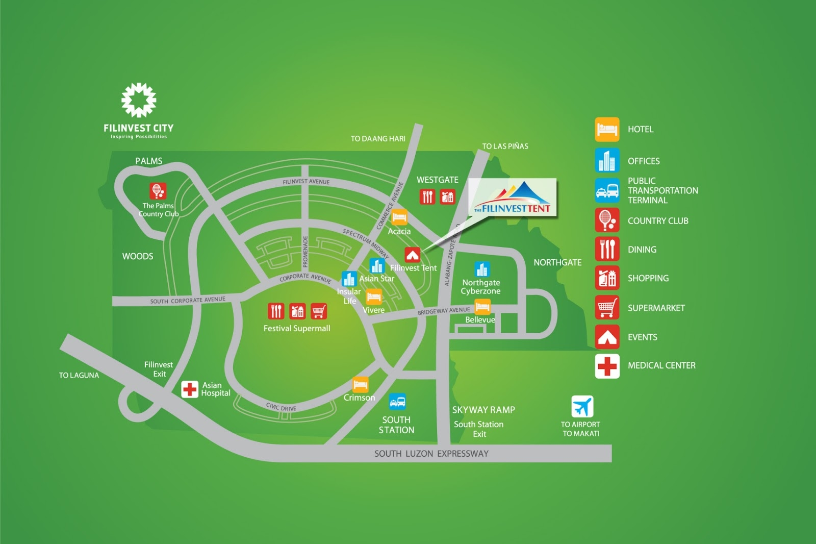 Filinvest Tent Location Map