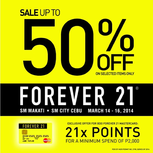 Forever 21 3-Day Sale March 2014