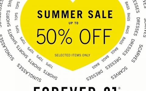 Summer Sale 2014 Forever 21 Summer Sale at sm