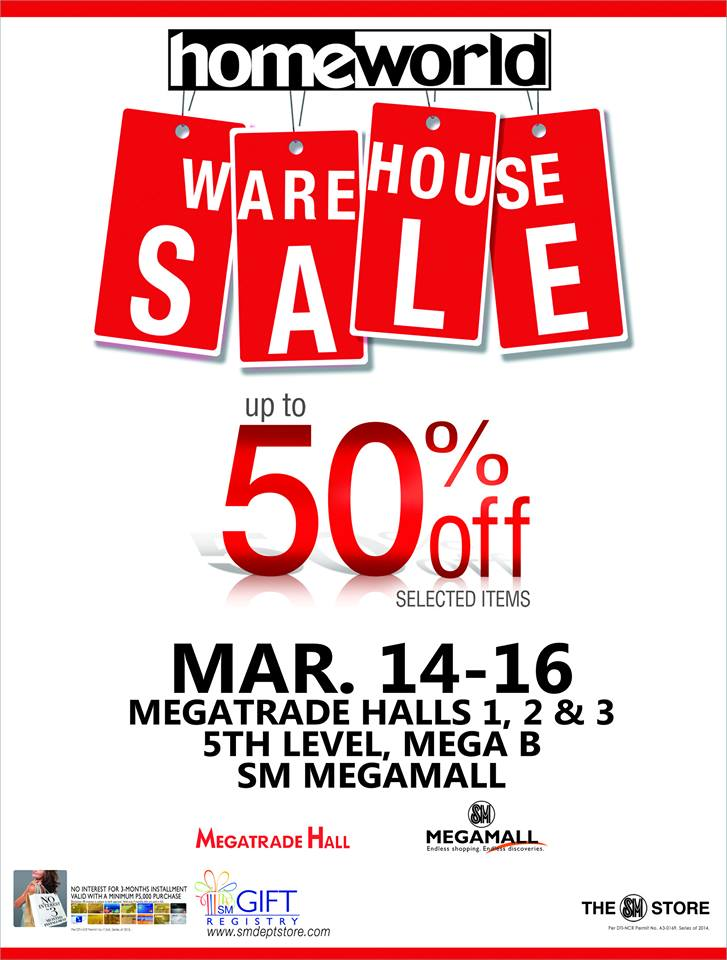 Homeworld Warehouse Sale @ SM Megatrade Hall March 2014