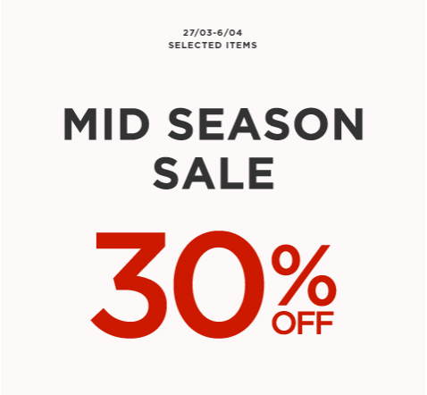 Mango Mid-Season Sale March - April 2014