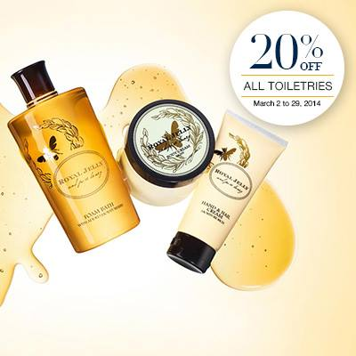 Marks & Spencer Toiletries Sale March 2014