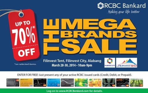 7th MegaBrands Sale @ Filinvest Tent March 2014