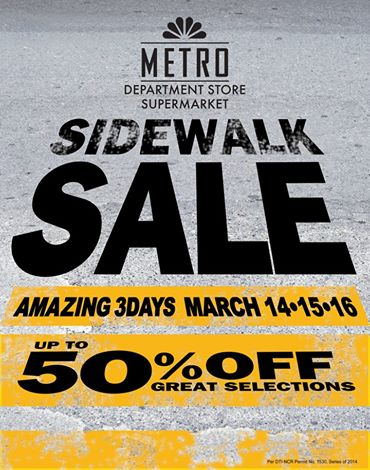 Metro Department Store & Supermarket Sidewalk Sale March 2014