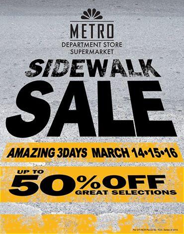 Metro Department Store & Supermarket Sidewalk Sale March 2014