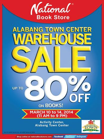 National Book Store Warehouse Sale @ Alabang Town Center March 2014