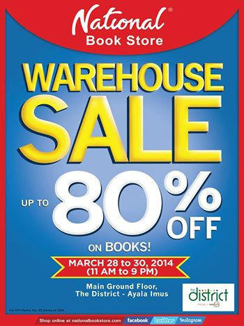 National Book Store Warehouse Sale @ The District-Ayala Imus March 2014