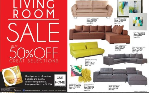 Our Home Living Room Sale March 2014
